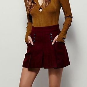 Free People | Happy Together Burgundy Skirt 0